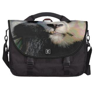 Cute Giant Panda Bear Eating Bamboo Wild Animals Laptop Messenger Bag