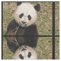Cute Giant Panda Bear Fabric