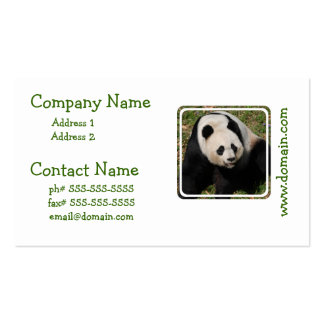 Cute Giant Panda Business Card Template
