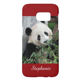 Cute Giant Panda, Dark Red, Custom for S7 Samsung Galaxy S7 Case