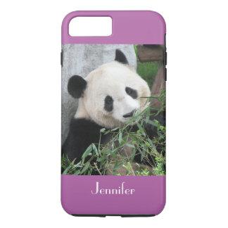 Cute Giant Panda, Purple, Radiant Orchid, Custom iPhone 8 Plus/7 Plus Case