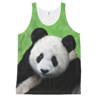 Cute Giant Panda Top All-Over Print Tank Top