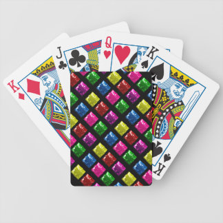Cute Gift Box Bling Pattern Bicycle Poker Deck