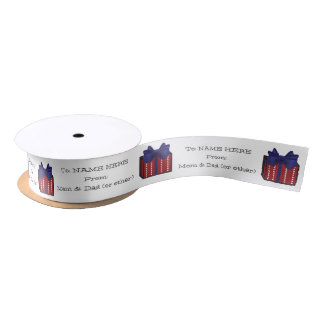 Cute Gift Graphic on Customizable Ribbon