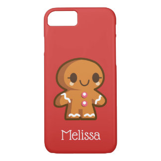 Cute Gingberbread Girl with Eyelashes iPhone 8/7 Case