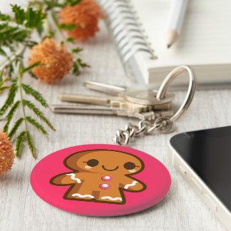 Cute Gingberbread Man Keychain