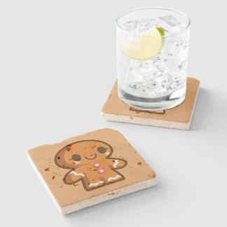 Cute Gingberbread Man Stone Coaster