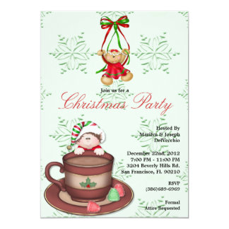 CUTE Ginger Bread Cookie Falling into Hot Coccoa C Card