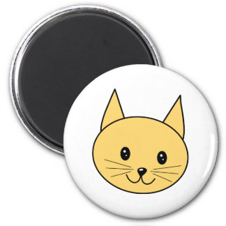 Cute Ginger Cat. 2 Inch Round Magnet