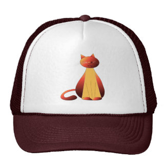 Cute Ginger Cat Art Trucker Hat