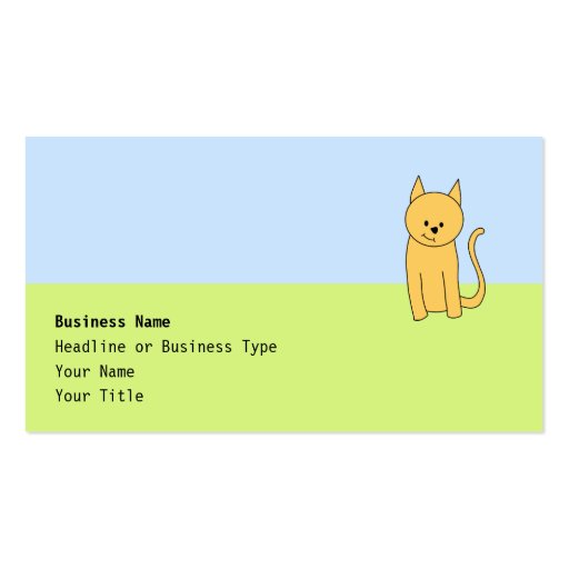 Cute Ginger Cat. Double-Sided Standard Business Cards (Pack Of 100)