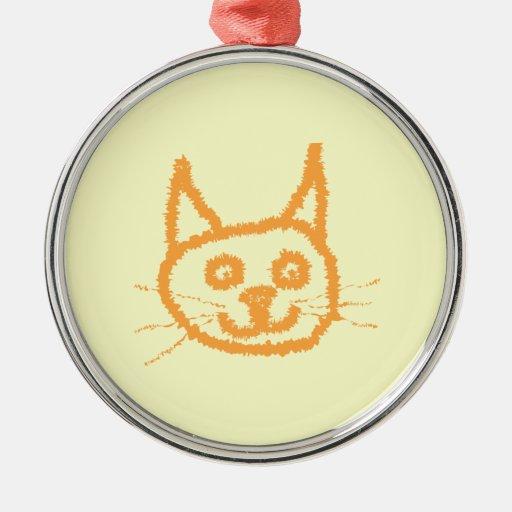 Cute Ginger Cat. Christmas Ornament