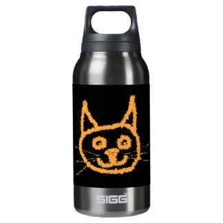 Cute Ginger Cat. Insulated Water Bottle