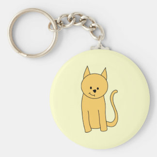 Cute Ginger Cat. Keychain