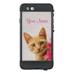 Cute Ginger Cat Kitten  personalized _ waterproof LifeProof NÜÜD iPhone 6 Case