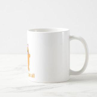 cute ginger cat coffee mug