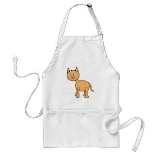 Cute Ginger Cat. Orange Cat Cartoon. Adult Apron