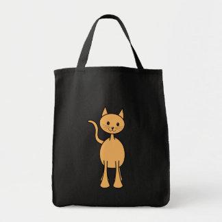 Cute Ginger Cat. Orange Cat Cartoon. Grocery Tote Bag