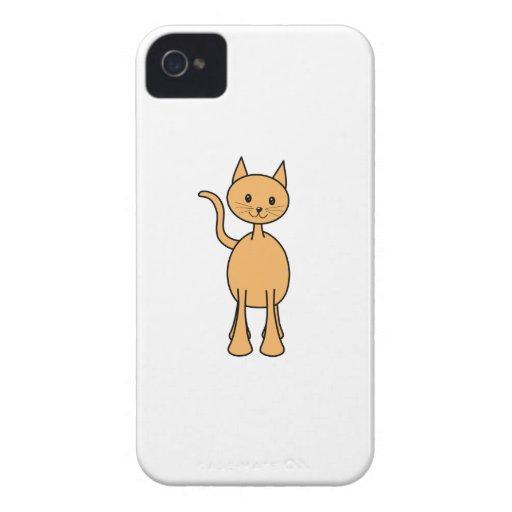 Cute Ginger Cat. Orange Cat Cartoon. Case-Mate iPhone 4 Cases