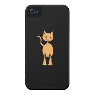 Cute Ginger Cat. Orange Cat Cartoon. iPhone 4 Case-Mate Cases