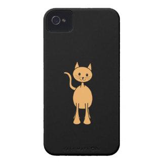 Cute Ginger Cat. Orange Cat Cartoon. iPhone 4 Cover