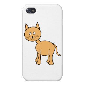 Cute Ginger Cat. Orange Cat Cartoon. iPhone 4 Cases