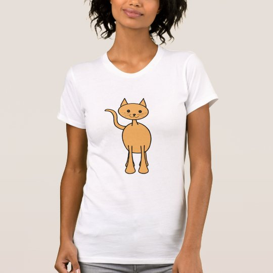 Cute Ginger Cat. Orange Cat Cartoon. T-Shirt