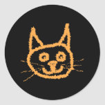 Cute Ginger Cat. Round Stickers
