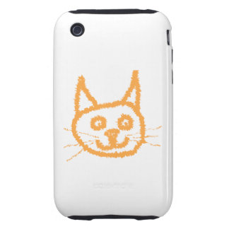 Cute Ginger Cat. Tough iPhone 3 Cases