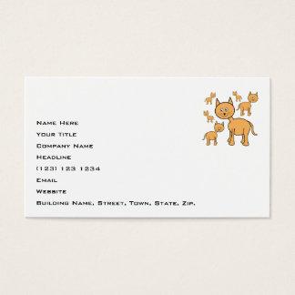 Cute Ginger Cats.  Cat Cartoon. Business Card