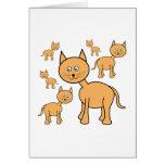 Cute Ginger Cats.  Cat Cartoon. Card