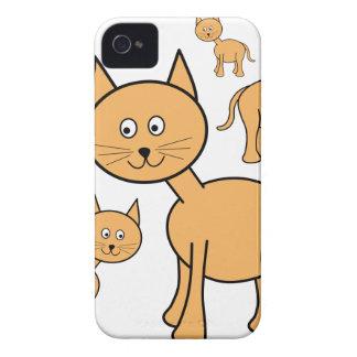 Cute Ginger Cats.  Cat Cartoon. iPhone 4 Cover