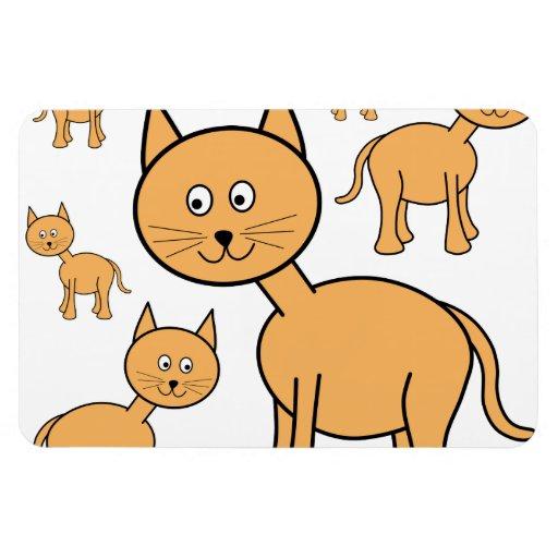 Cute Ginger Cats.  Cat Cartoon. Flexible Magnet