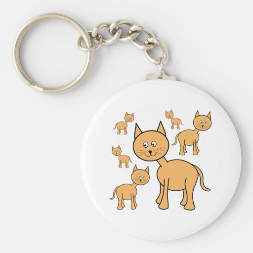 Cute Ginger Cats.  Cat Cartoon. Key Chains