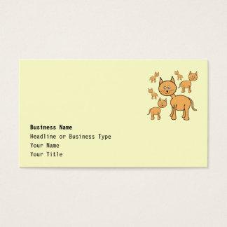 Cute Ginger Cats. Orange Cat Cartoon. Business Card