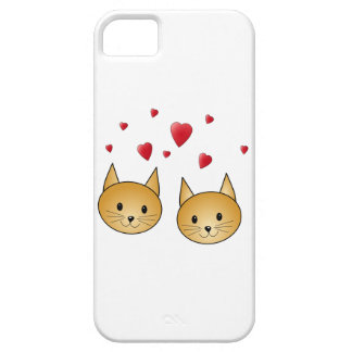 Cute Ginger cats. With Red Love Hearts. iPhone 5 Covers