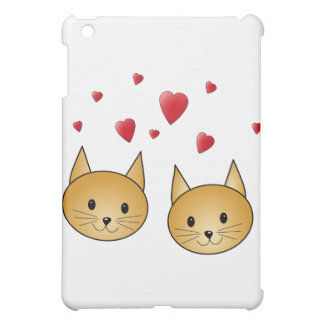 Cute Ginger cats. With Red Love Hearts. Cover For The iPad Mini