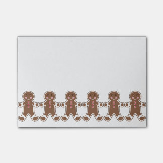 Cute Gingerbread Boys Post It Notes Post-it® Notes