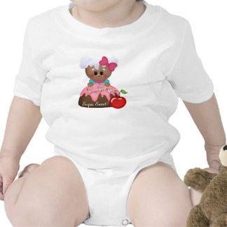 Cute Gingerbread Cake Girl Baby Sleeper Tee Shirt