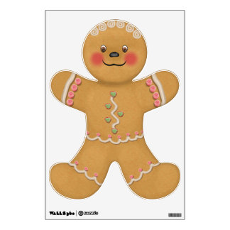 Cute Gingerbread Child Wall Decal