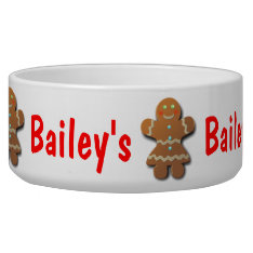Cute Gingerbread Cookie Bowl at Zazzle