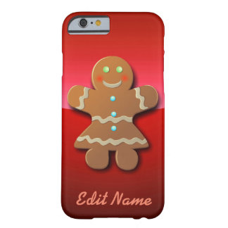 Cute Gingerbread Cookie In Party Dress Barely There iPhone 6 Case