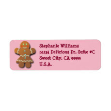 Cute Gingerbread Cookie Label