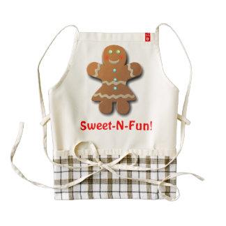 Cute Gingerbread Cookie Zazzle HEART Apron