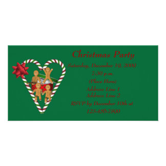 Cute Gingerbread Cookies Christmas Holiday Card