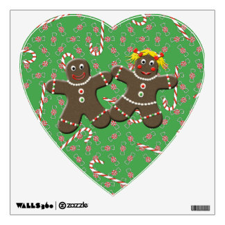 Cute Gingerbread Couple Holiday Wall Decal