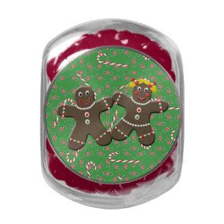 Cute Gingerbread Couple Love Gingerbread Cookies Glass Jar