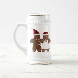 Cute Gingerbread Couple Stein Coffee Mugs