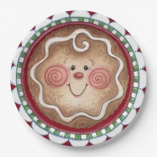 Cute Gingerbread Face Paper Plate  sc 1 st  Zazzle & Gingerbread Plates | Zazzle