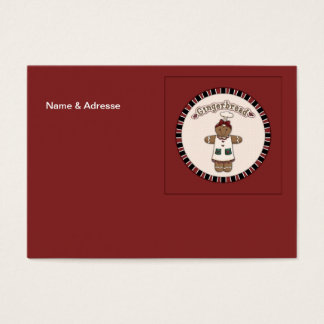 Cute Gingerbread Girl Business Card